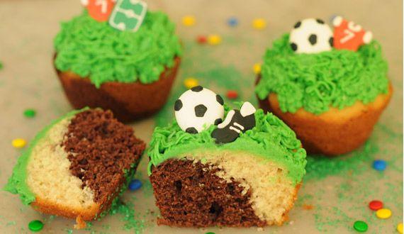 Cupcake Futbolero 2 colores