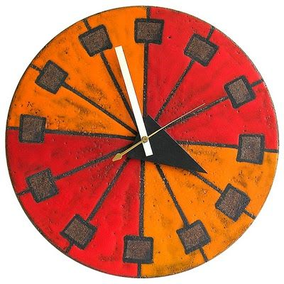 Howard Miller Clock MID-CENTURIA : Art, Design and Decor from the Mid-Century and beyond: Meridian Ceramic Clocks
