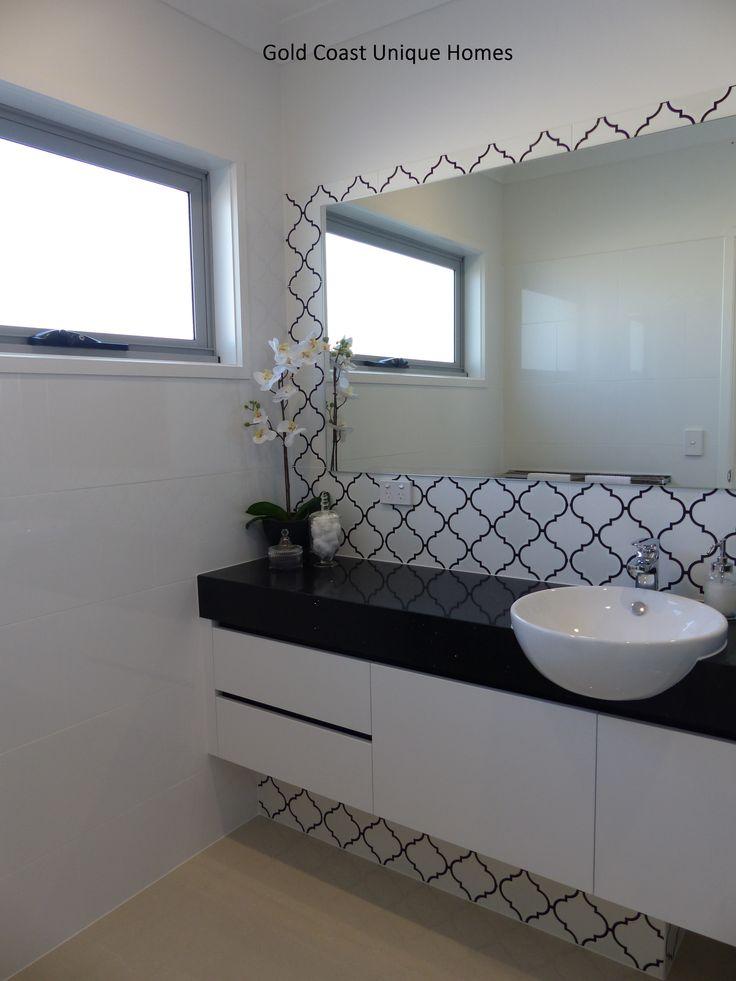 Aspire Display Home Open 10am to 4pm Daily. 17 Elvire St Ormeau Ridge 4208 http://www.goldcoastuniquehomes.com.au #luxuryhome #goldcoastbuilder #bathroom #mirror
