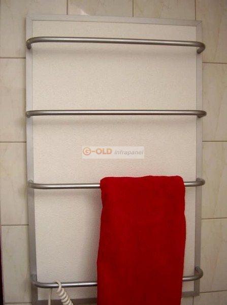 Törölközőszárító infrapanel G-OLD 400tsr Termosztáttal 400W