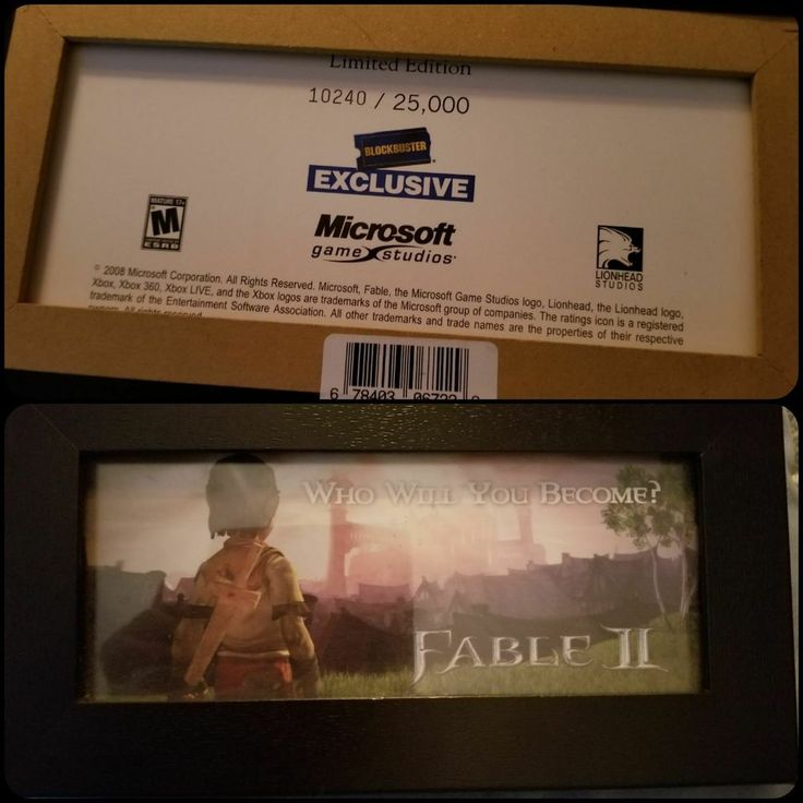 """FABLE II """"WHO WILL YOU BECOME?"""" BLOCKBUSTER EXCLUSIVE PICTURE LIMITED EDITION  #MICROSOFTLIMITEDEDITION"""