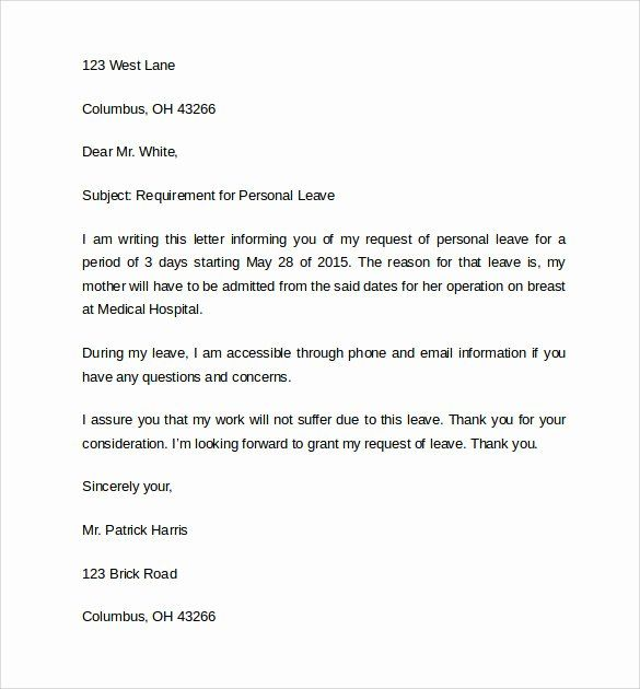 Letter For Leave Of Absence from i.pinimg.com