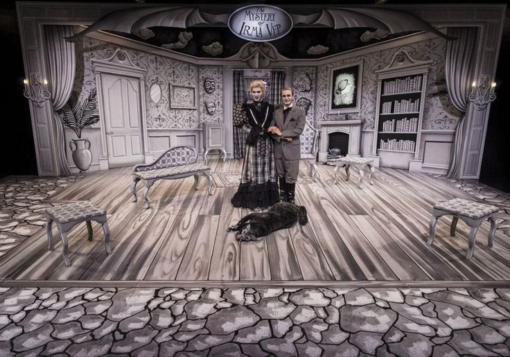 """The Mystery of Irma Vep"" at Cortland Repertory Theatre.  Set Design by Jason Bolen"