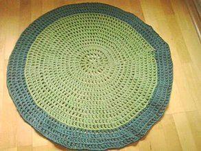 Úžitkový textil - Hačkovaný koberec - 5408349_
