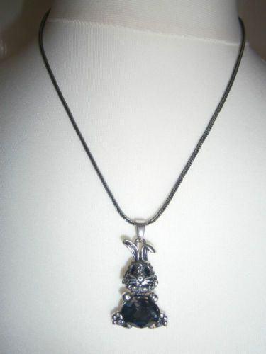 Cute Rhinestone Diamante Topaz Sparkly Bunny Rabbit Pendant Charm Necklace | eBay