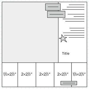 Scrapbook Page Sketch 276