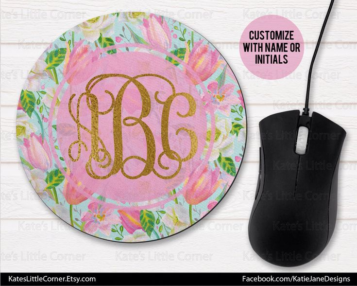 A personal favorite from my Etsy shop https://www.etsy.com/listing/573950918/custom-mouse-pad-monogram-mouse-pad