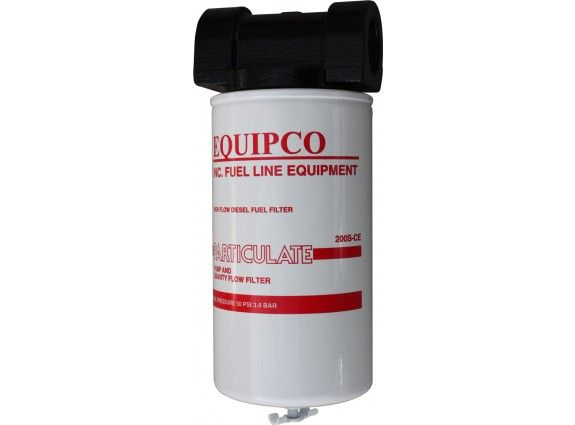 """1"""" NPT heavy duty cast iron head single element fuel filter.10 micron rated element. 67 LPM max"""