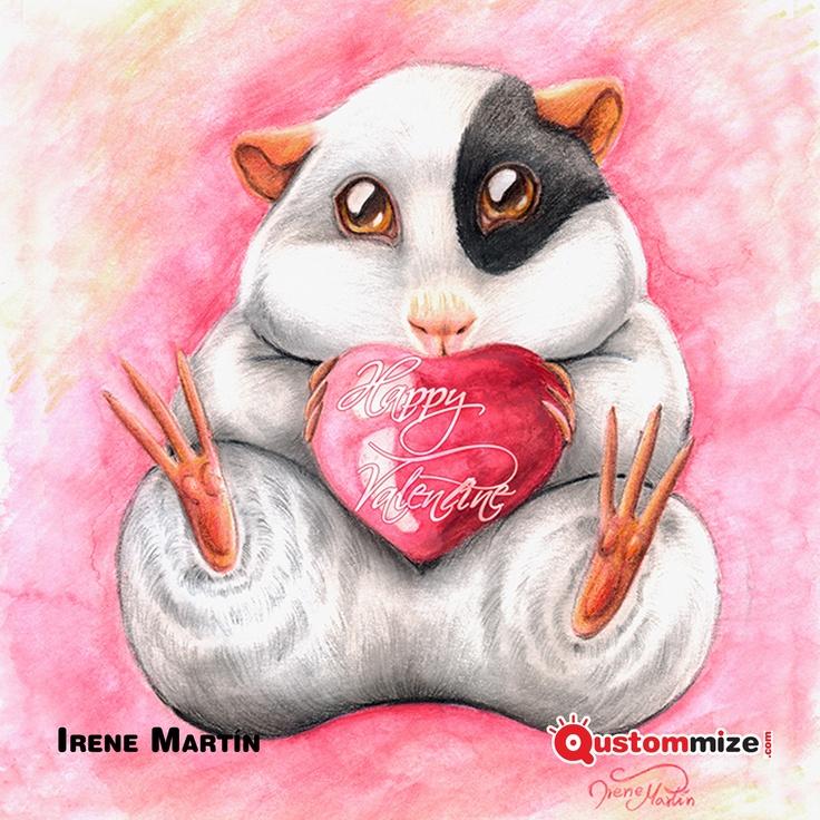 """I Concurso de ilustración """"Jon"""" (San Valentín 2.013).    Ilustración seleccionada para la exposición virtual. Irene Martín."""