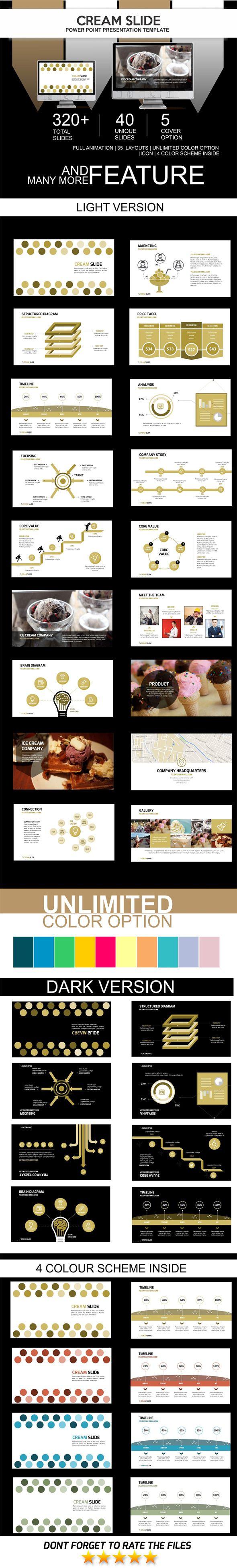 Cream Slide PowerPoint Template #design Download: http://graphicriver.net/item/cream-slide/11569401?ref=ksioks