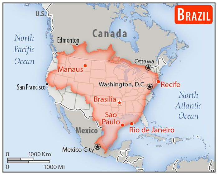 30 Countries Compared To The United States With A Real Scale Perspective Map Country Maps Usa Map