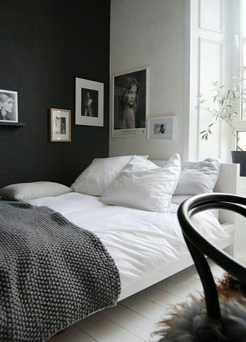 Chambre - nuances de noir et blanc