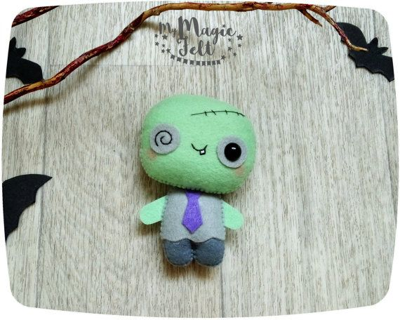 Halloween ornament zombie cute Halloween ornaments by MyMagicFelt