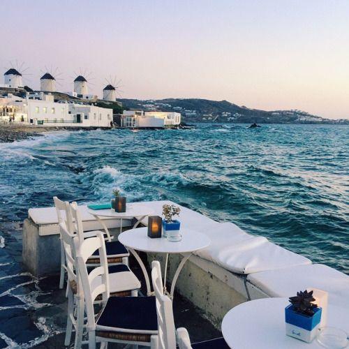 stylishblogger: Dinner by the sea #Mykonos #Greece...