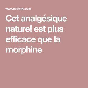 Cet analgésique naturel est plus efficace que la morphine