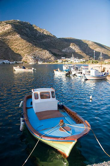 Greece. Sifnos Island, Vathi Harbor