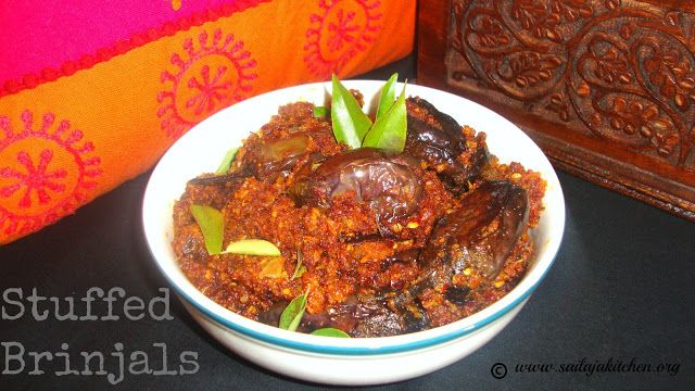 Sailaja Kitchen...A site for all food lovers!: Stuffed Brinjal Recipe / Stuffed Brinjal Fry Recipe
