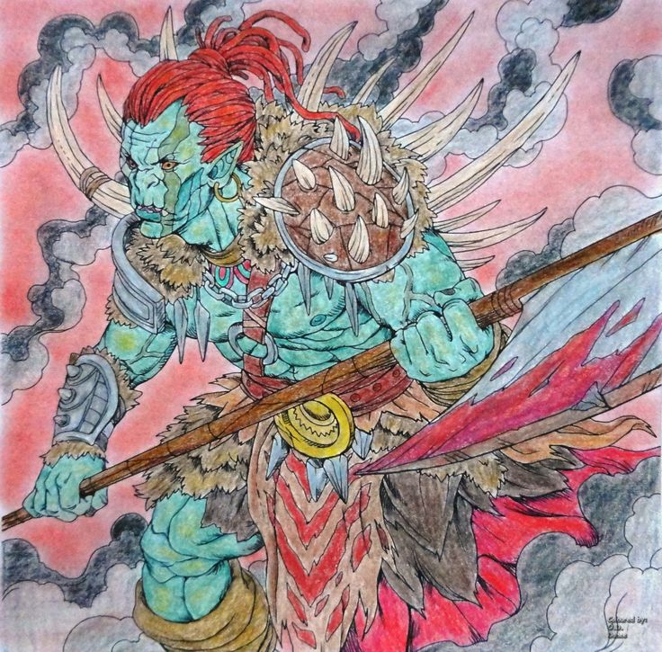 Nicholas F. Chandrawienata - Fantasia Orc Coloured with Marco Raffine
