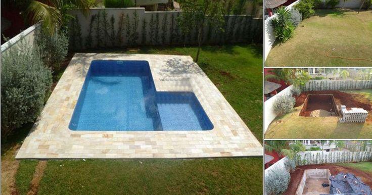 Ez a család megunta a nyári meleget és építettek egy kerti medencét! Nézd csak, nem is olyan nehéz!