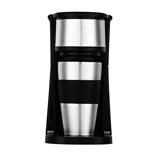 Coffee Machine Yummy Sam® Professional Coffee Maker Single Serve Personal Filter Dispensing Coffee Machine 2 in 1 Ground Coffee and Coffee Pod Espresso and Cappuccino Maker in Black