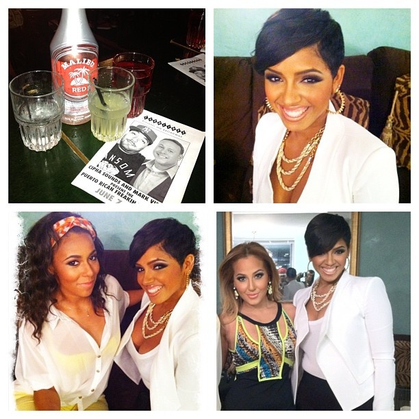 RaVaughn Brown Instagram Picture: Gettn ready for girls night out w/ my girls @isthather & @adrienne_bailon last night. Had soooo much fun! #r