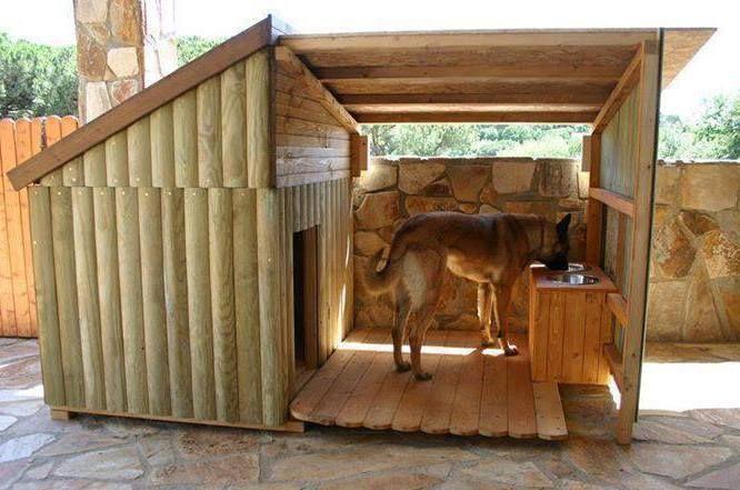 como hacer casas para perros grandes palets - Buscar con Google