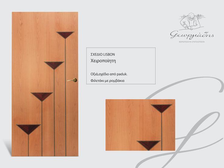 handmade wooden door_code: Lisbon / by Goergiadis furnitures #handmade #wooden #door #marqueterie