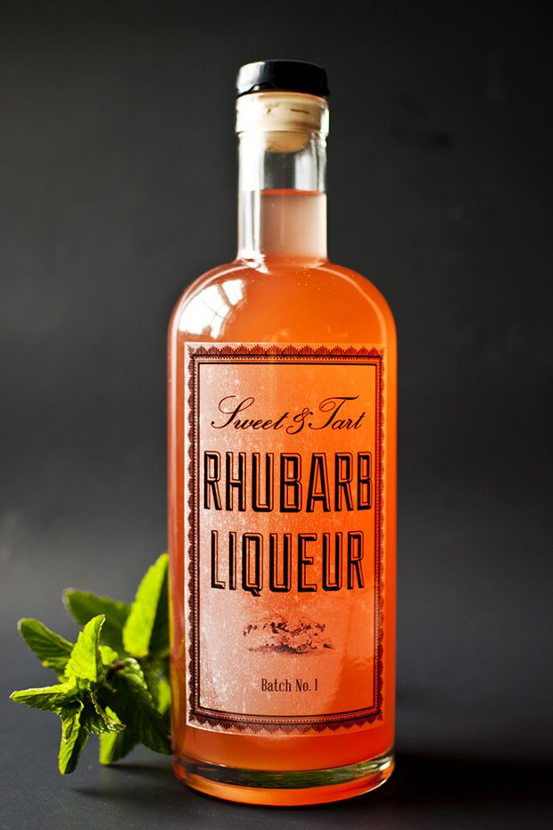 DIY rhubarb liqueur recipe