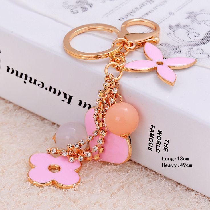 Сладкий брелок для ключей Цветок Сердце брелки ключи от машины кольца держатель мешка кулон небольшие подарки оптовые Мс.