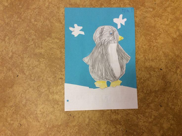 1. třída: Tučňák - potřebujeme barevný papír a lepidlo.