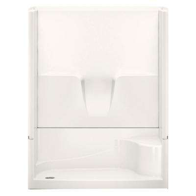 Remodeline Smooth Wall 60 in. x 34 in. x 76 in. 4-Piece Shower Stall Kit Left Hand Drain in Bone