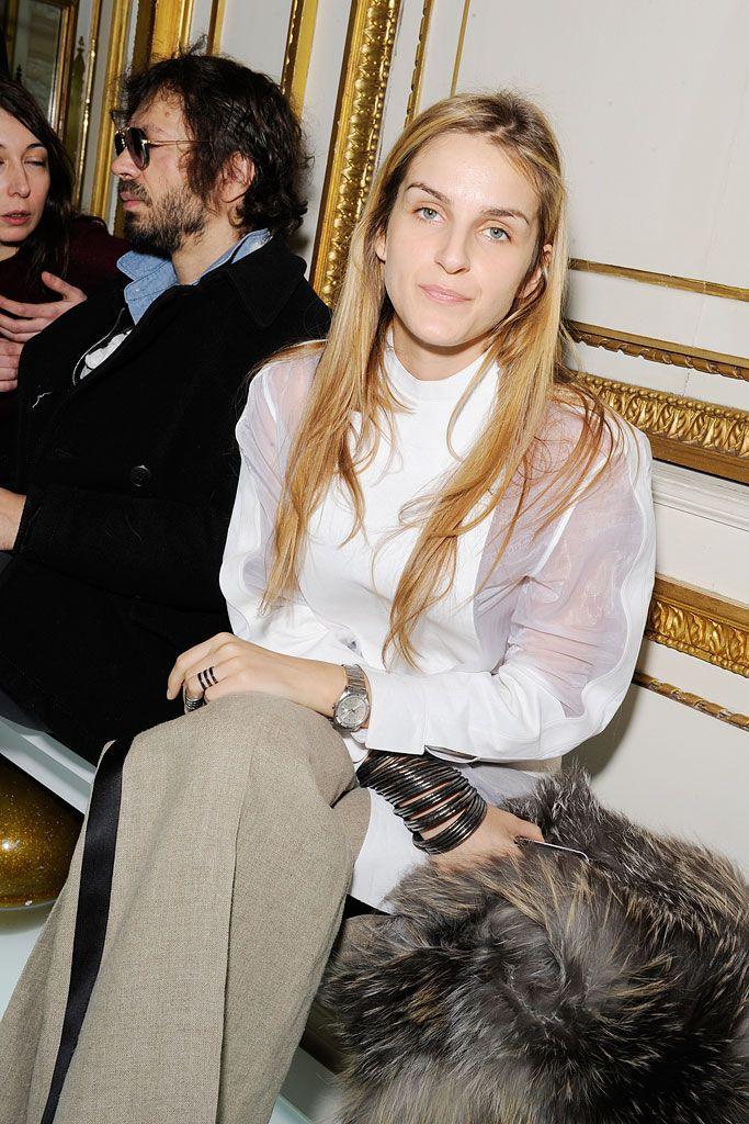 Gaia Repossi in Balenciaga S10 blouse at Balenciaga F10 RTW