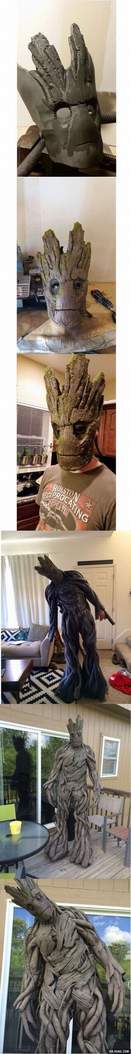 Groot Halloween / cosplay costume. (guardians of the galaxy)