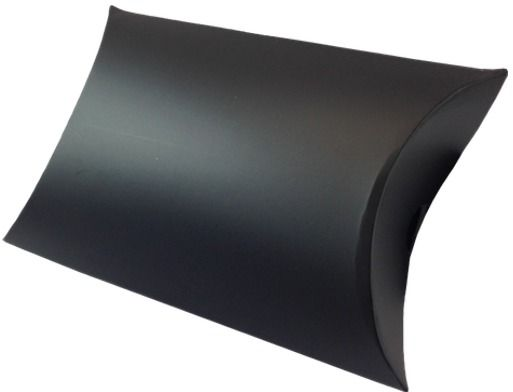 Black pillow boxes - a sophisticated way to package jewellery and small gifts.