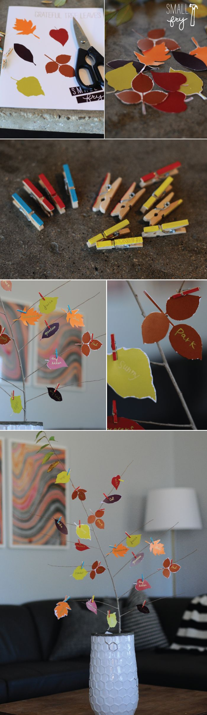 Make a Gratitude Tree with free leaf printable