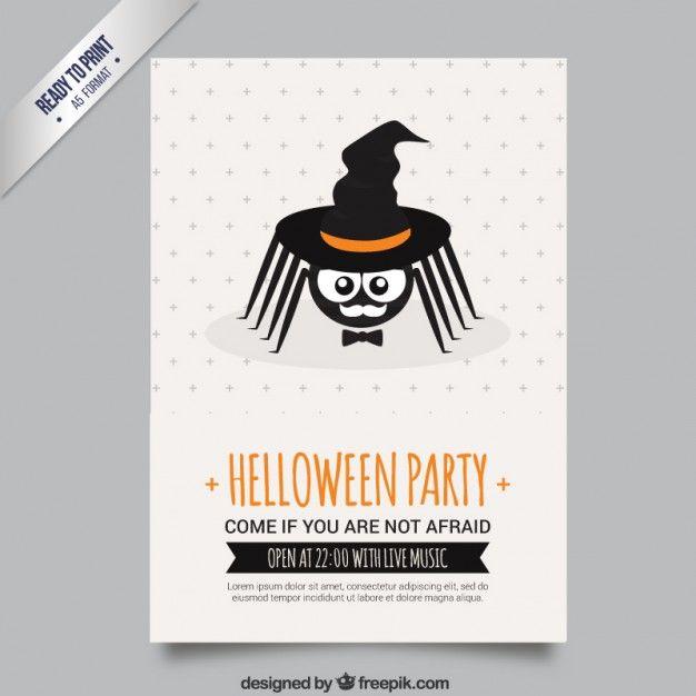 Araña cartel del partido de la bruja