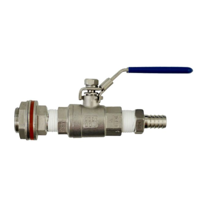 Stainless Steel Ball Valve Kit - Add a ball valve to your home brewing kettle or fermenter!