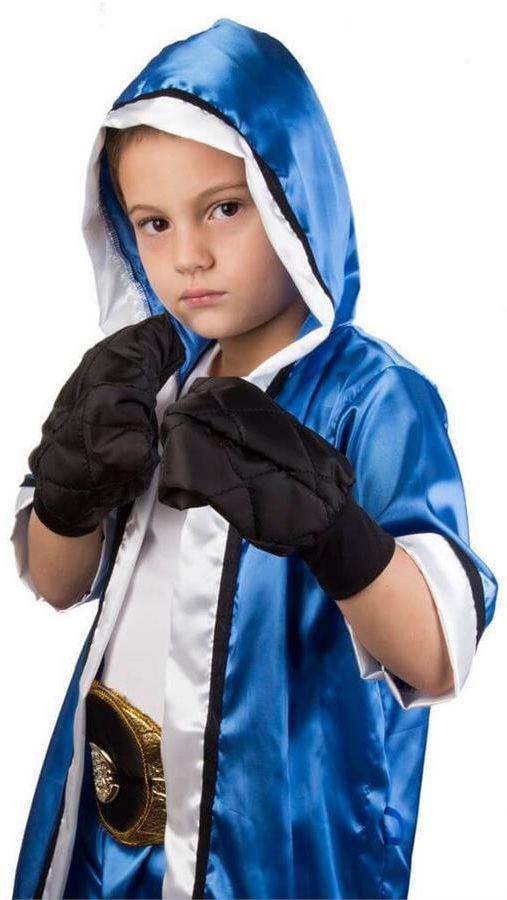 Todo menino gosta de brincadeiras masculinas, cheias de ação e aventura. Agora, você pode presenteá-lo com essa incrível fantasia de boxeador e despertar nele a paixão pelo esporte!
