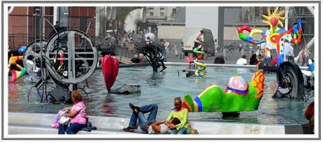 #art Nikki de Saint Phalle - Fontaine Stavinsky ou Fontaine des Automates (1983)  http://www.creative-entrepreneurs-leclub.com/news/le-nouveau-realisme