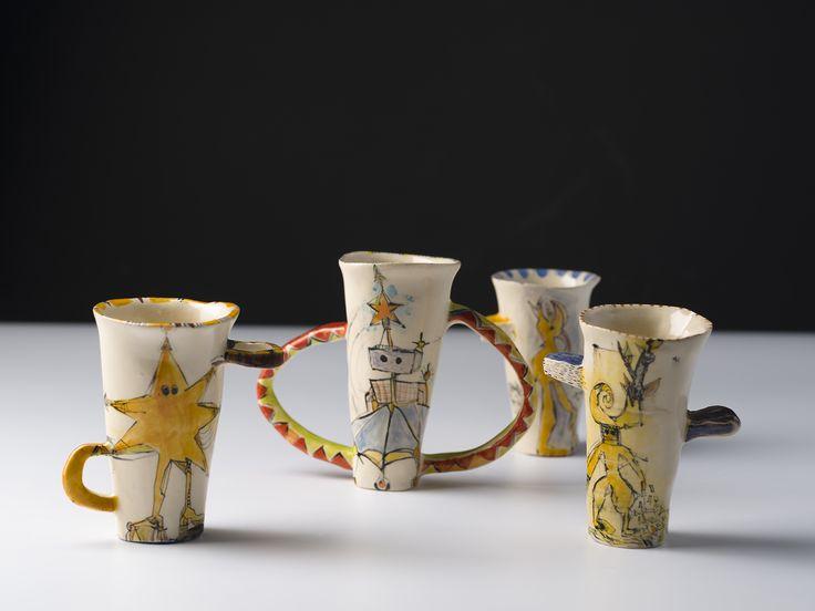 Vanessa Anastasopoulou ,'Heroes, ceramic  sculptures