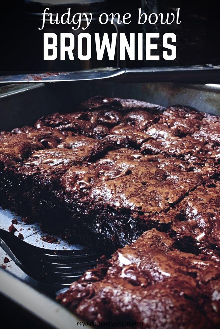 Fudgy eine Schüssel Brownies   – Desserts – Brownies, Blondies & Bars!!