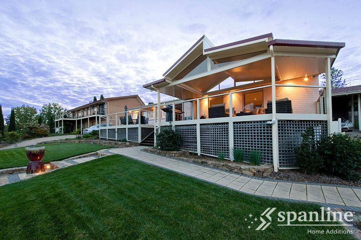 A unique modern patio design idea by Spanline Australia.