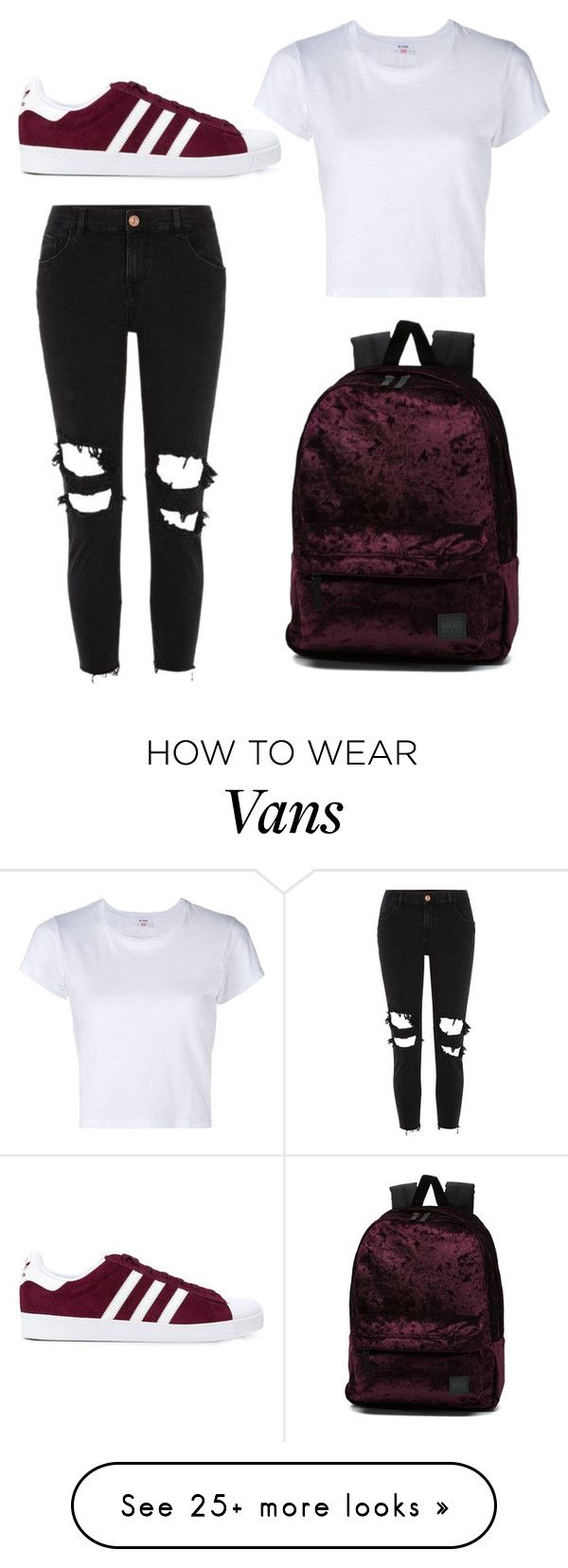 """Simple"" by marianagrw on Polyvore featuring River Island, adidas, Vans and RE/DONE"