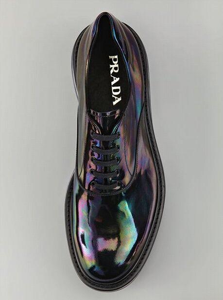 Prada men's shoes treated with unique enamel - fancy.com