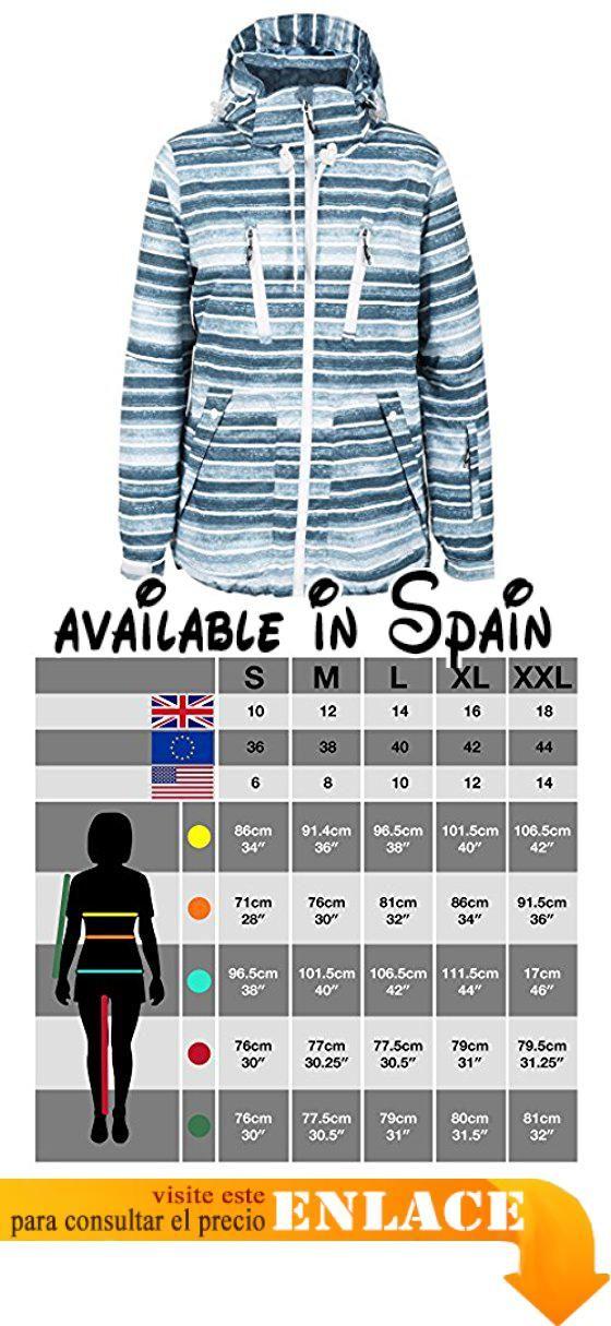 B01LY61252 : Trespass - Chaqueta acolchada de esqui impermeable modelo Mamacita para mujer (Extra Grande (XL)/Mar). Chaqueta para esquiar para mujer. Acolchada. Capucha con cremallera y ajustable. Cremalleras de ventilación en las axilas. Puños elásticos con ajustador