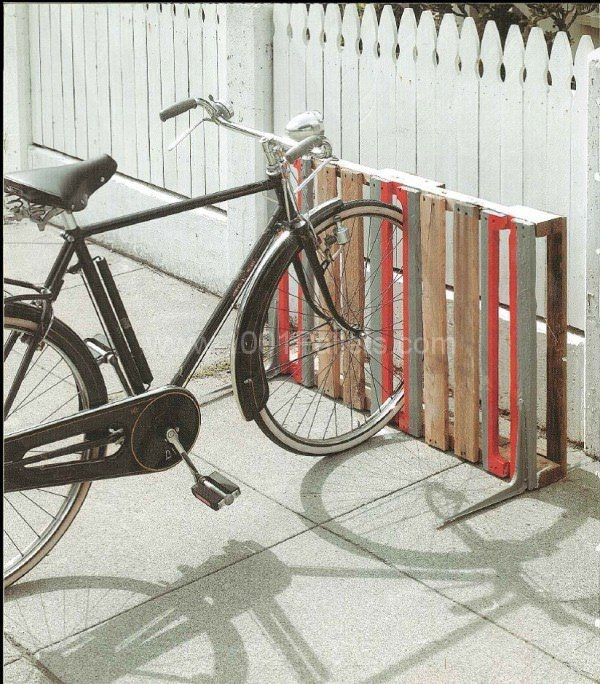 14 Ways of Reusing Old Wooden Pallets As Bike Racks                                                                                                                                                      More