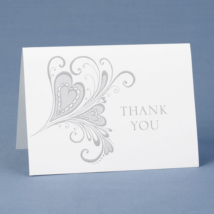 what to write in my bridal shower thank you cards%0A Paisley Heart Thank You Cards  Perfect Wedding Gift
