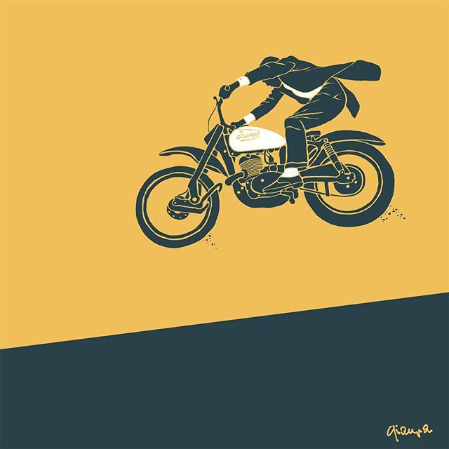 Ministry of Pixel #illustration #design #motorcycles #motos | caferacerpasion.com