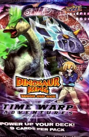 Dinosaur King - Time Warp Adventures Trading Cards booste pack - 9 cards per pack Dinosaur King TCG Time Warp AdventuresContains 9 cards per pack (Barcode EAN = 8717646215607). http://www.comparestoreprices.co.uk/latest2/dinosaur-king--time-warp-adventures-trading-cards-booste-pack--9-cards-per-pack.asp