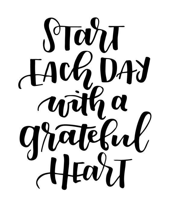 Start Each Day with a Grateful Heart | Kim's Birthday Celebration - Art via Lil Luna: